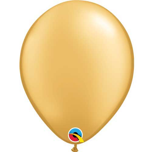 "Qualatex 11"" Metallic Gold Latex Balloon"