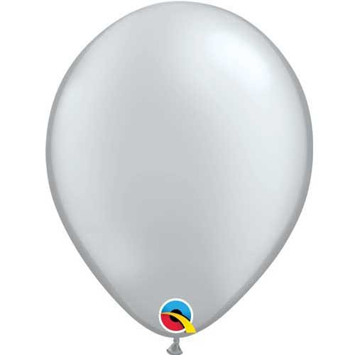 "Qualatex 11"" Metallic Silver Latex Balloon"