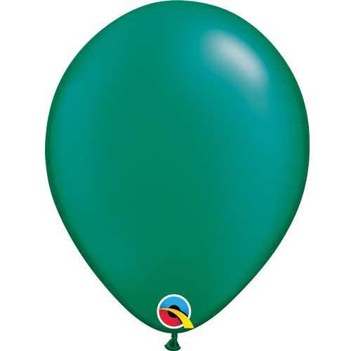 "Qualatex 11"" Metallic Pearl Emerald Green Latex Balloon"