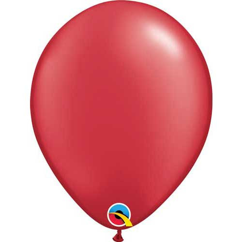 "Qualatex 11"" Metallic Pearl Ruby Red Latex Balloon"