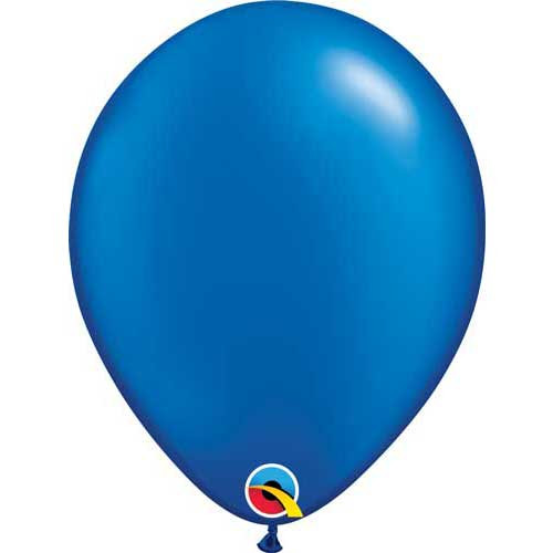"Qualatex 11"" Metallic Pearl Sapphire Blue Latex Balloon"
