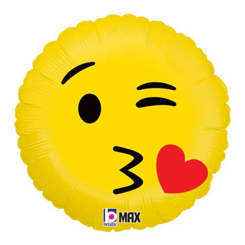 "18"" Emoji Kiss Foil Balloon"