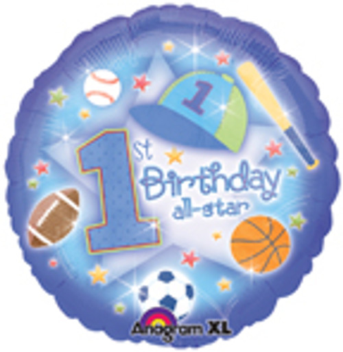 "18"" 1st Birthday All-Star Balloon"