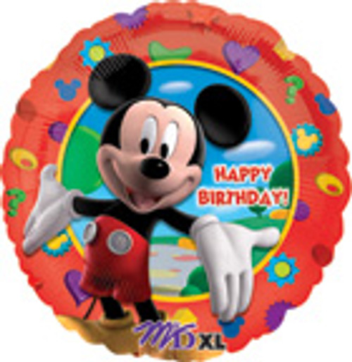 "17"" Mickey Clubhouse Happy Birthday Balloon"
