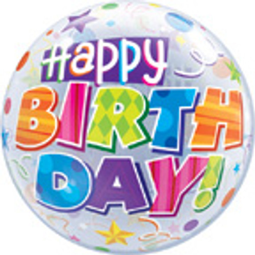 "22"" Happy Birthday Party Balloons Bubble Balloon"