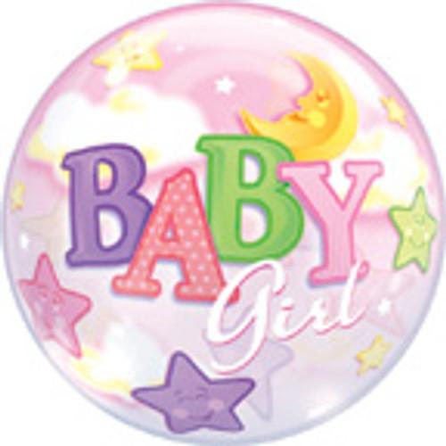 "22"" It's a Girl Moon Bubble Balloon"