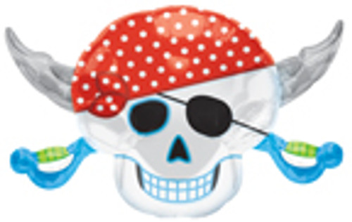 "28"" Pirate Party Skull Super Shape Balloon"