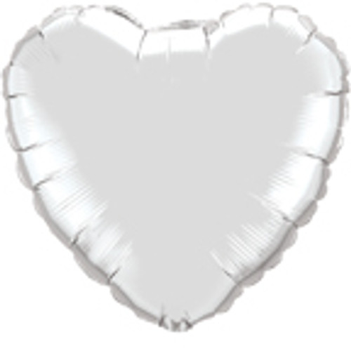 "36"" Silver Heart Foil Balloon"