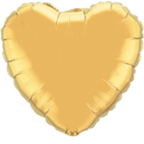 "36"" Metallic Gold Heart Foil Balloon"