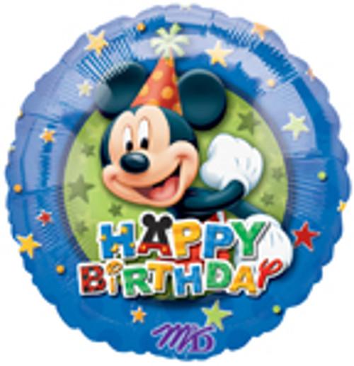 """17"""" Mickey Birthday Stars Balloon"""