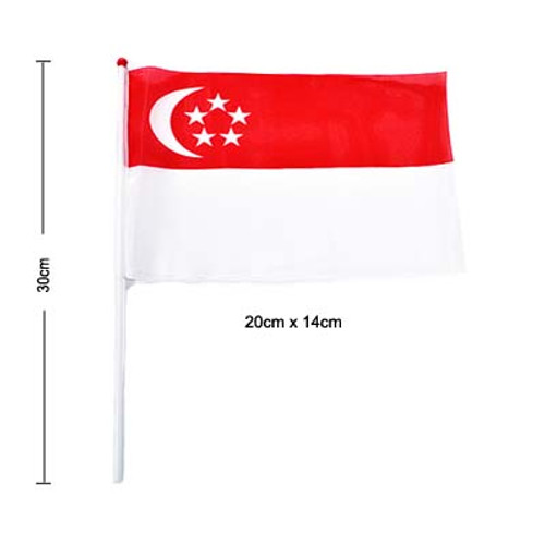 30cm Singapore hand held Flag