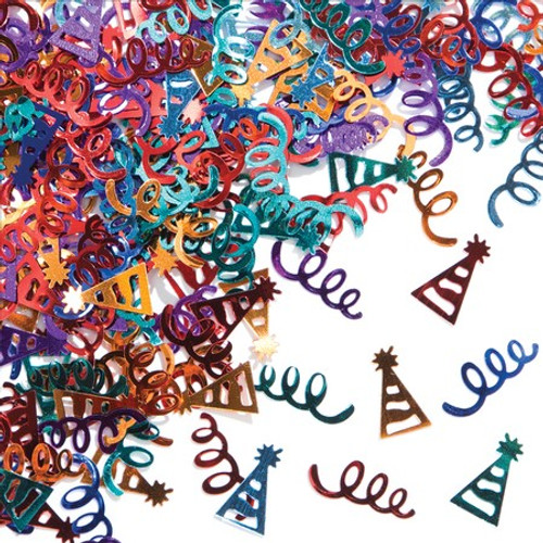 Streamers & Hats Foil Confetti Pack