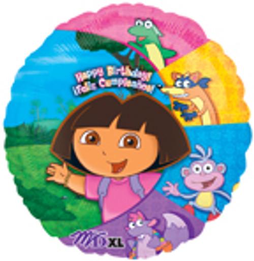 """18"""" Dora & Friends Birthday Balloon"""