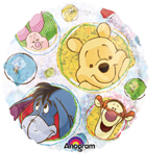 """18"""" Winnie The Pooh Clear Holographic Balloon"""