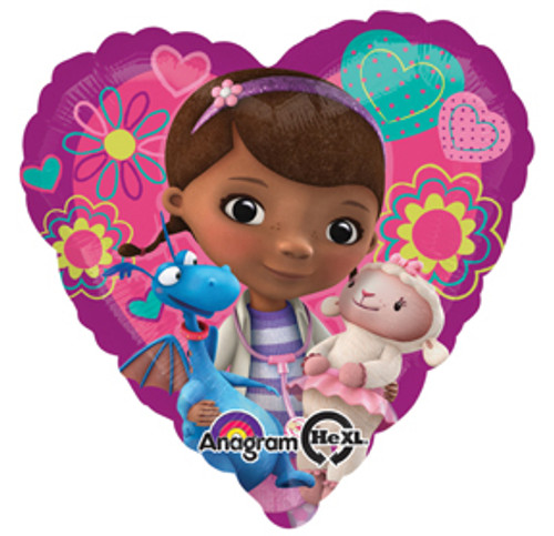 "17"" Doc McStuffins Love Balloon"