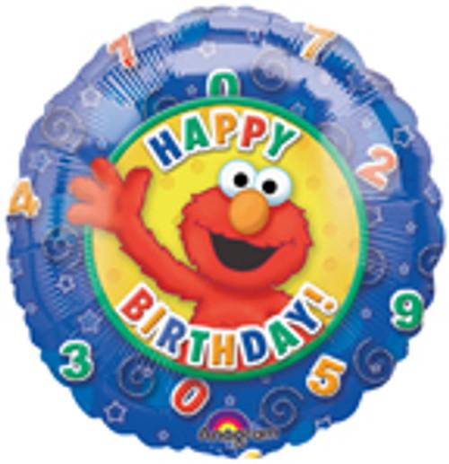 "18"" Elmo Stars & Swirls Birthday Balloon"
