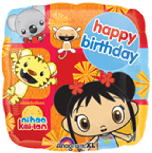 "18"" Ni Hao Kai Lan Birthday Square Balloon"
