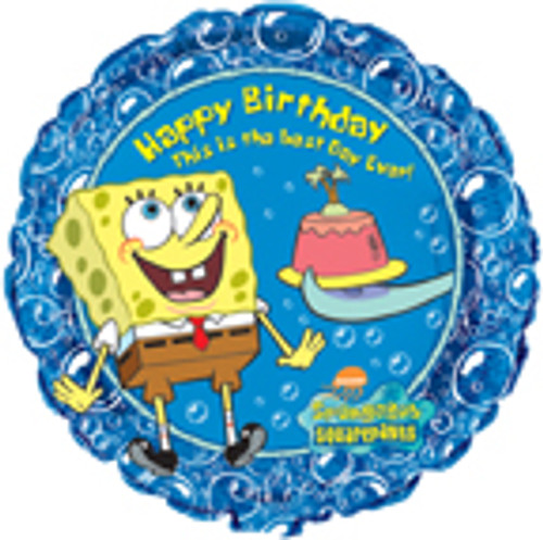 "18"" SpongeBob SquarePants Happy Birthday Balloon"