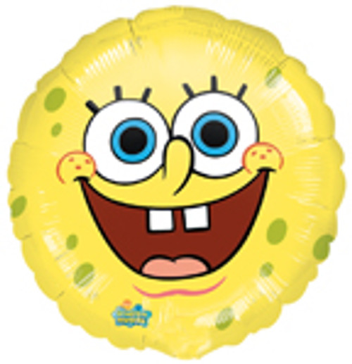 "18"" SpongeBob Round Face Smiles Balloon"