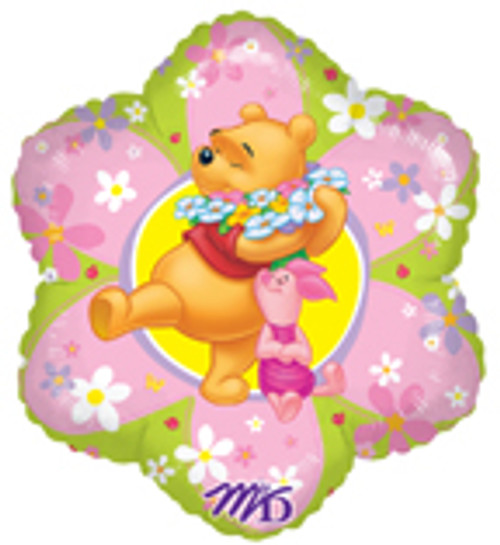 "18"" Pooh Friendly Flower Junior Shape Balloon Balloon"