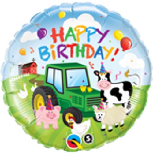 "18"" Barnyard Friends Happy Birthday Balloon"