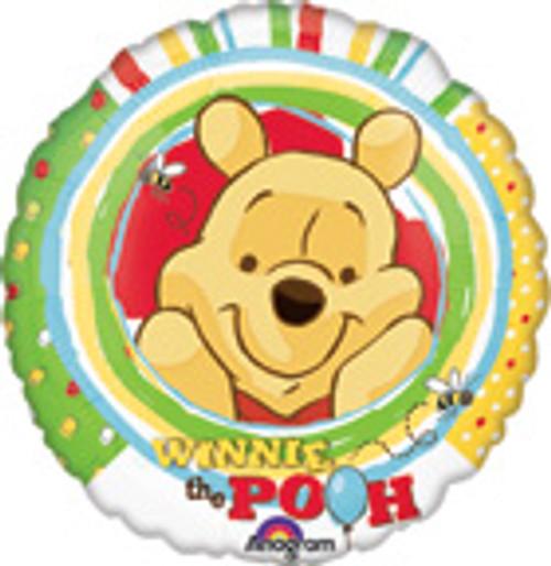 "18"" Winnie The Pooh Strips & Dots Balloon"