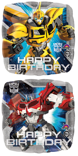 "17"" Transformers Animated Birthday Square Balloon"