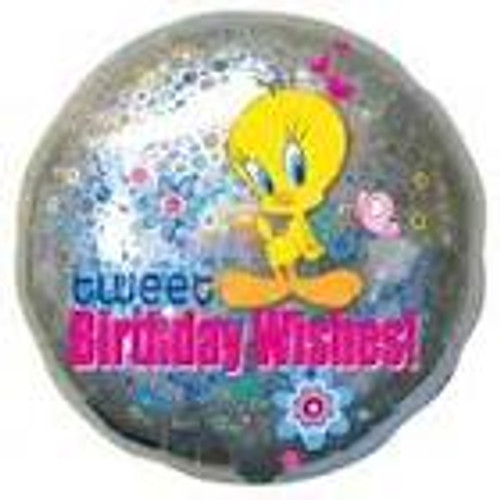 "18"" Tweety Birthday Wishes Holographic Balloon"
