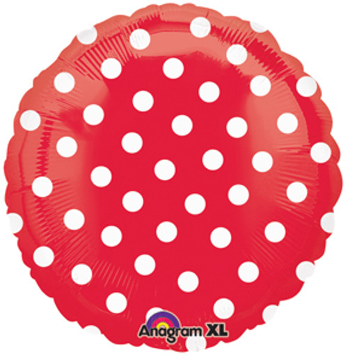 "18"" Red Polka Dots Foil Balloon"