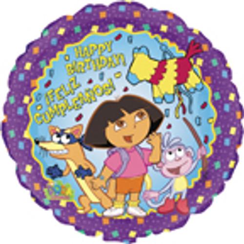 """17"""" Dora Birthday Balloon"""