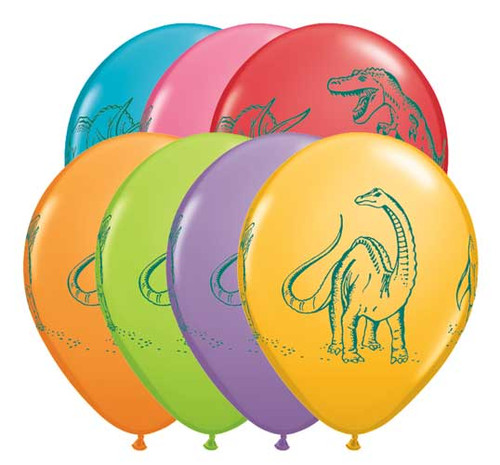 "11"" Dinosaurs Latex Balloon"