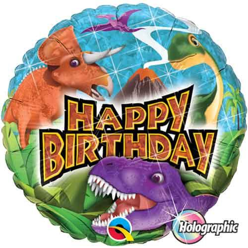 """18"""" Dinosaur Happy Birthday Balloon"""