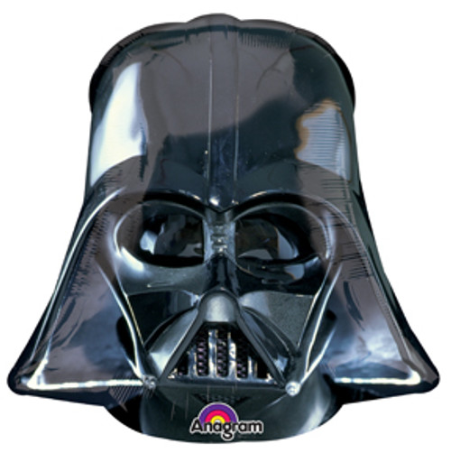 """32"""" Darth Vader Black Helmet Super Shape Balloon"""