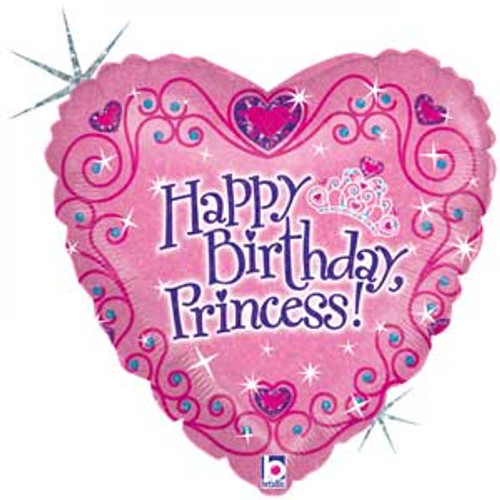 18 Princess Birthday Heart Shape Balloon