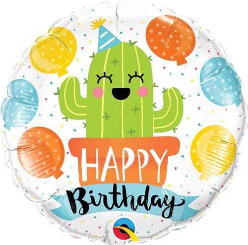"18"" Birthday Party Cactus Balloon"