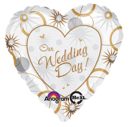 "17"" Our Wedding Day Love Balloon"