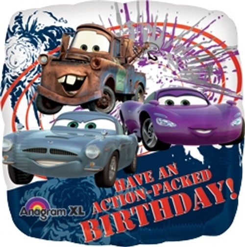 "18"" Disney Cars 2 Action Birthday Square Balloon"