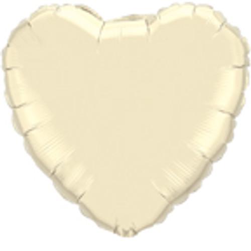 "36"" Pearl Ivory Heart Foil Balloon"