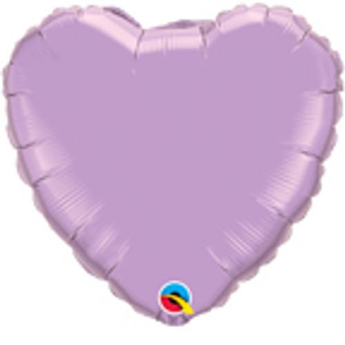 "36"" Pearl Lavender Heart Foil Balloon"