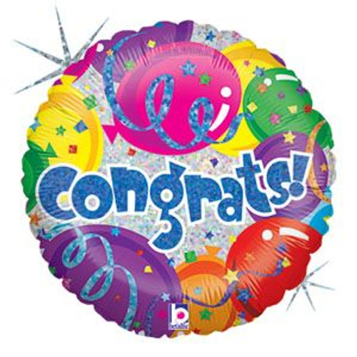 "18"" Party Congrats Foil Balloon"