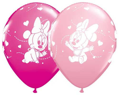 "11"" Baby Minnie Latex Balloon"