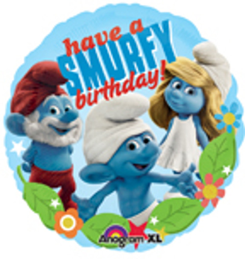 "18"" Smurfs Happy Birthday Balloon"