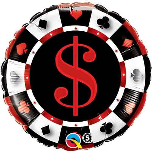 "18"" Casino $ Foil Balloon"