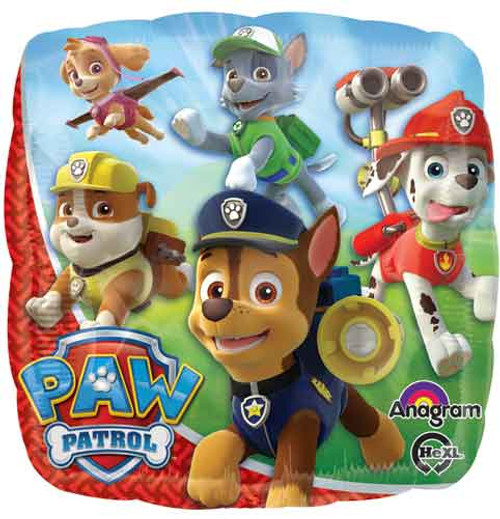 "17"" Paw Patrol Square Balloon"