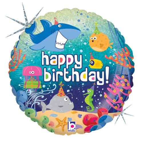 """18"""" Birthday Ocean Balloon"""
