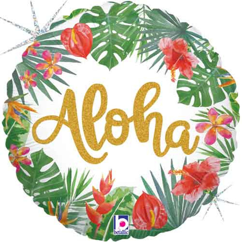 "18"" Aloha Tropical Balloon"