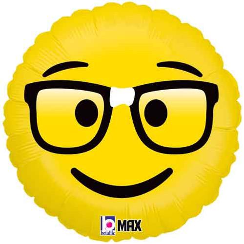 """18"""" Emoji Nerd Foil Balloon"""