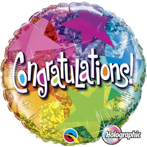"18"" Congratulations Star Pattern Balloon"