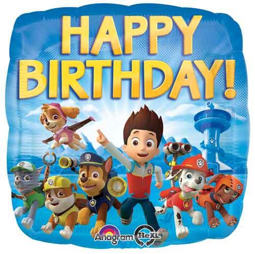 "17"" Paw Patrol Birthday Square Balloon"