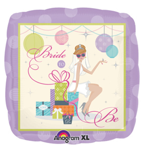"18"" Shower Chic Bride Square Balloon"